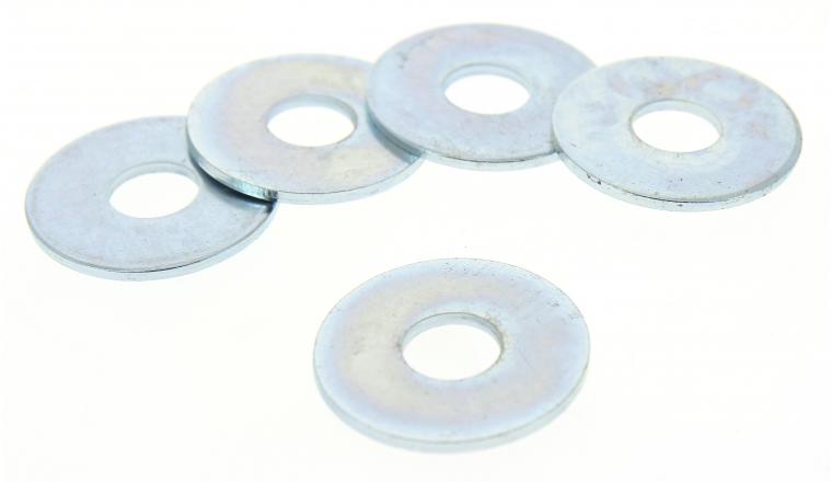Lot de 5 Rondelles plates Extra-Larges Ø 18 mm Acier Zingué ROCKET
