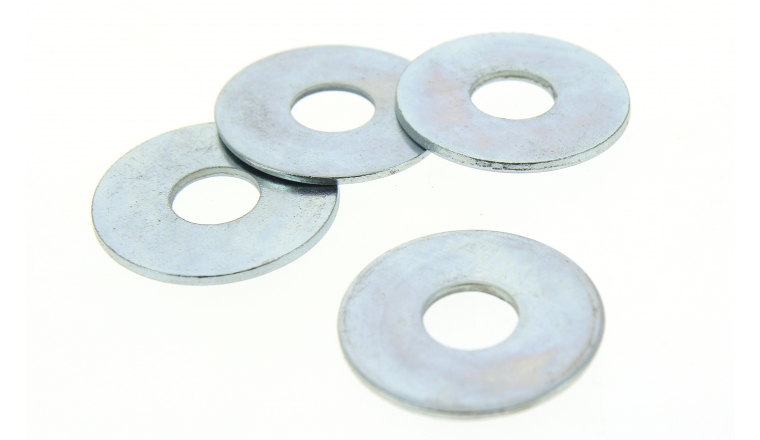 Lot de 4 Rondelles Plates Extra-Larges Ø 20 mm Acier Zingué ROCKET