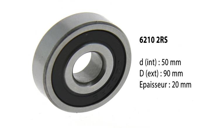 Roulement à billes étanche 6210 2RS - 50X90X20 mm
