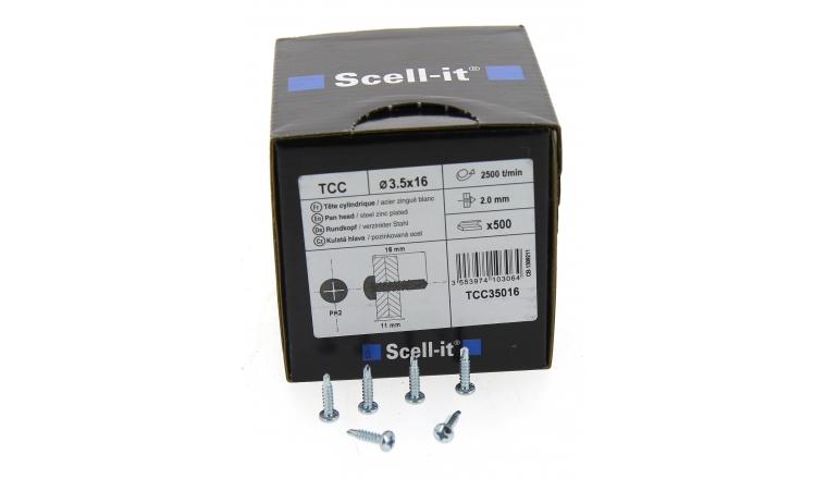 Boîte de 500 Vis à tête Cylindrique Cruciforme Ø 3.9 de 16 à 19 mm  SCELL-IT