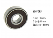 Roulement à billes étanche 6307 2RS - 35X80X21 mm