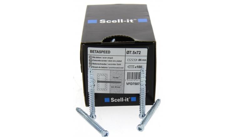 Boîte de 50 Vis de fixation a tête réduite Torx Ø 7.5 x 182 mm SCELL-IT