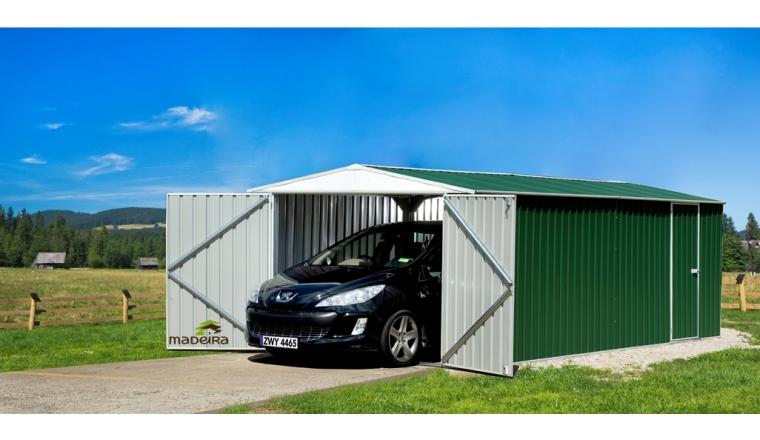 Garage en Métal HERVEY Madeira 17.58 m² Ref 2165