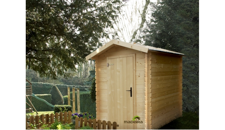 Abri de jardin en bois bex madeira m ref 2273 for Abri de jardin brico