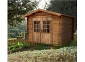 Abri de Jardin en Bois Traité MONDA Madeira 5.11 m² Ref 2276