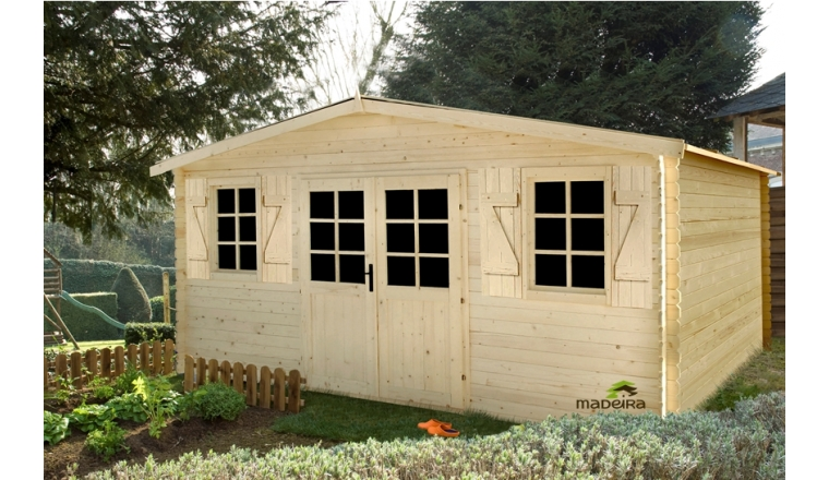 Abri de jardin en bois louvie madeira m ref 2286 for Porte de jardin en bois brico