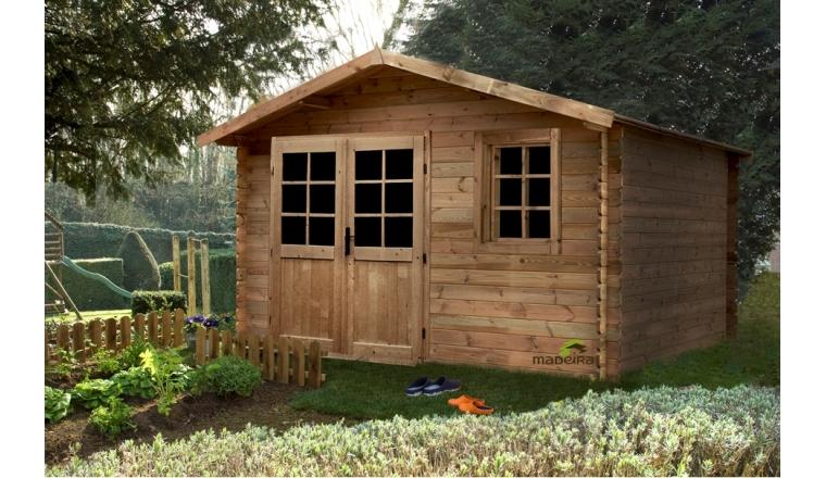 Abri de jardin en bois trait aloha madeira m ref 2289 for Abri de jardin en bois sans entretien