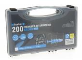 Coffret de 200 Chevilles Autoperceuses Krono Zinc 31 mm A Visser Avec Tournevis PH2 SCELL-IT