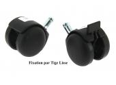 Roulette Pivotante pour ameublement Ø 50 mm
