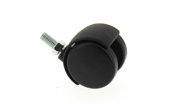 Roulette Pivotante Tige Filetée Pour Ameublement Ø 40 mm