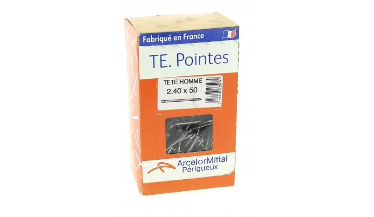 Boîte de 1000 g de Pointes Tête Homme Ø 1.5 à 2.4 mm