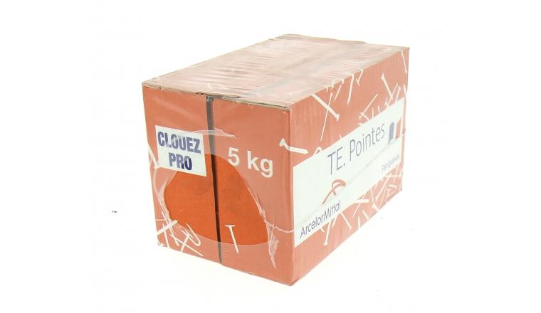 Boîte de 5 kg de Pointes Sitor à tête Plate Ø de 2.85 à 5.5 mm