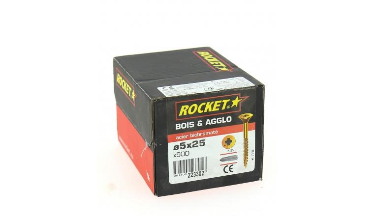 Boîte de 500 Vis à tête fraisée Torx Ø 5 x 25 mm ROCKET