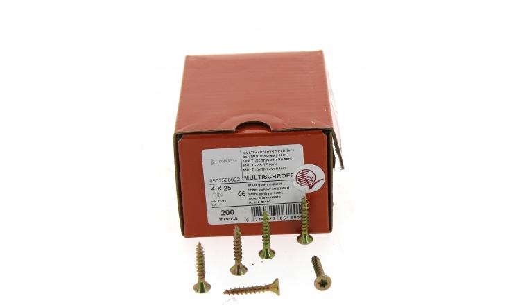 Boîte de 200 Vis à tête fraisée Torx Ø 4 x 25 mm