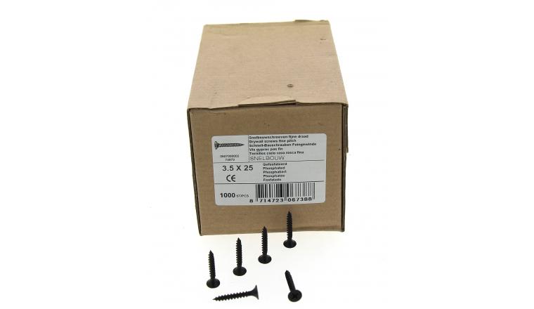 Boîte de 1000 Vis à plaque de plâtre Ø 3.5 x 35 mm