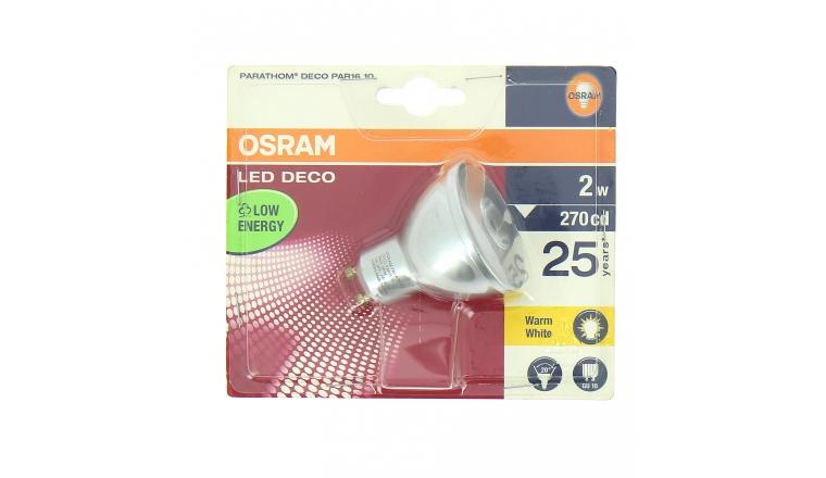 Lampe LED GU10 Spot  PARATHOM DECO PAR16 10 - OSRAM