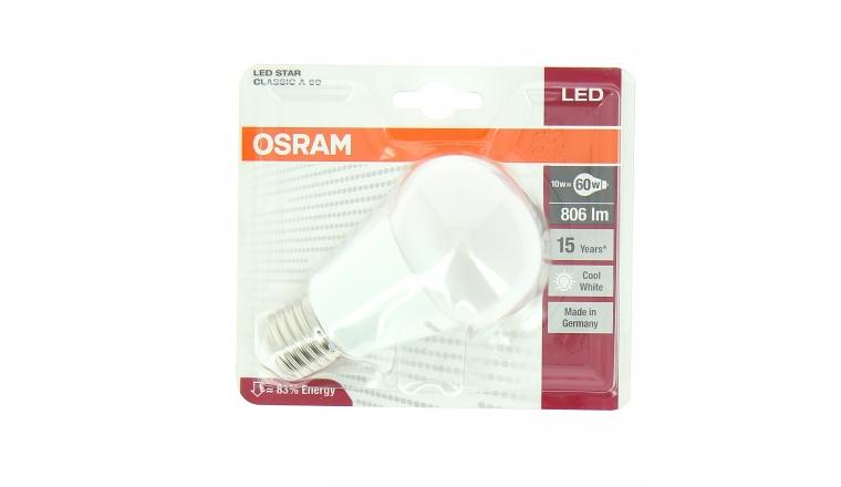 Lampe LED E27 Standard 60 W LED STAR CLASSIC A 60 - OSRAM