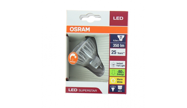 Lampe LED GU5.3 Spot 35 W LED SUPERSTAR MR16 35 36° ADVANCED -. Osram