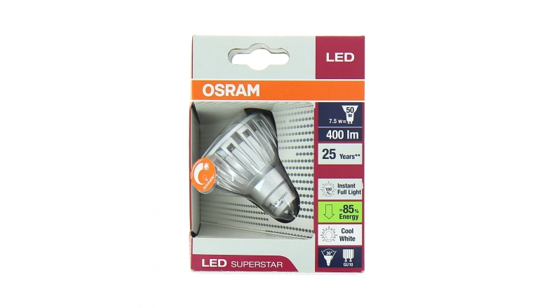 Lampe LED GU10 Spot LED SUPERSTAR PAR16 50 36° ADVANCED - OSRAM