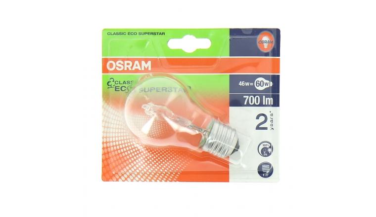 Lampe Halogène E27 Standard 60 W CLASSIC ECO SUPERSTAR - OSRAM