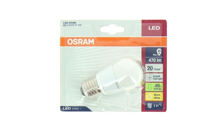 Lampe LED E27 Standard 40 W LED STAR CLASSIC P 40 - OSRAM