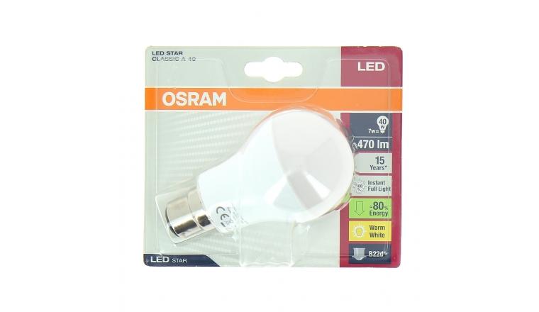 Lampe LED B22d Standard 40 W LED STAR CLASSIC A 40 - OSRAM