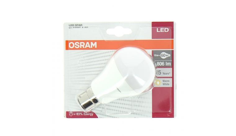 Lampe LED B22d Standard 60 W LED STAR CLASSIC A 60 - OSRAM