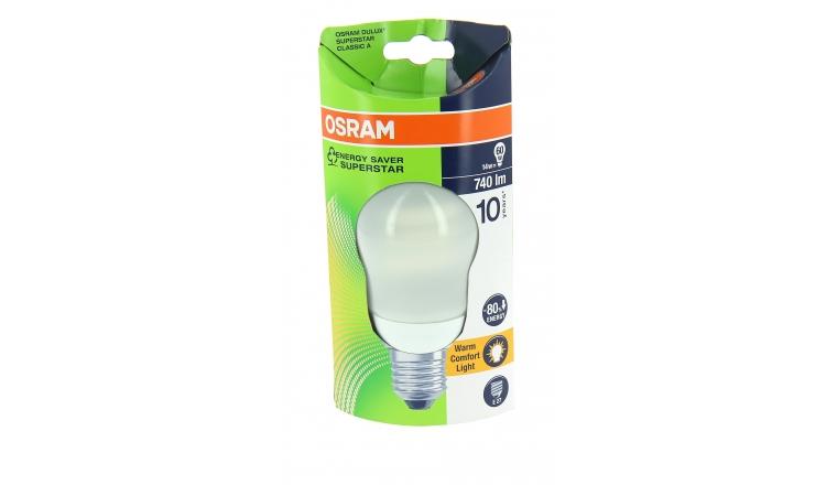 Lampe Fluocompact E27 Globe 60 W DULUX SUPERSTAR CLASSIC A - OSRAM