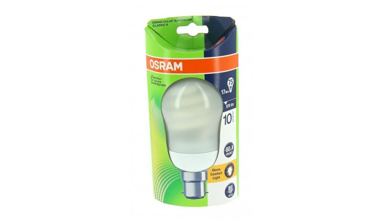 Lampe Fluocompact B22d Globe 75 W DULUX SUPERSTAR - OSRAM