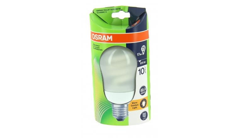 Lampe Fluocompact E27 Globe 75 W DULUX SUPERSTAR CLASSIC A - OSRAM