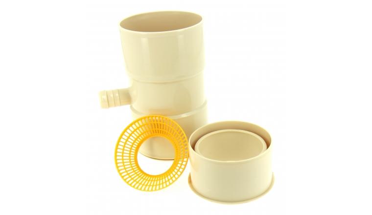 Collecteur d\'eau de Pluie en PVC entrée Femelle Ø 100 mm ou 80 mm / Sortie Femelle Ø 25 mm - Boutté