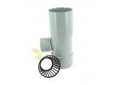 Collecteur d'eau de pluie en PVC entrée femelle Ø 80 mm / sortie femelle Ø 50 mm - Girpi