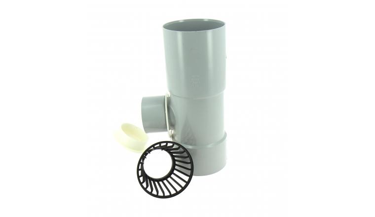 Collecteur d\'eau de pluie en PVC entrée femelle Ø 80 mm / sortie femelle Ø 50 mm - Girpi
