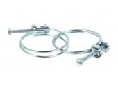 Lot de 2 Colliers de serrage 2 Fils en Acier, Fixation Cruciforme / Plate Ø du tuyau de 15 à 46 mm - Boutté