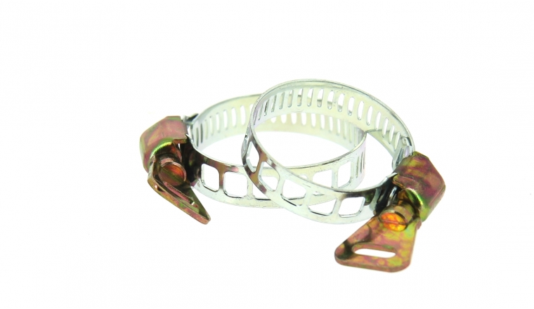 Lot de 2 Colliers de serrage Fixation à Clé, largeur 8 mm Ø du tuyau de 18 à 28 mm Ref 0204595 - Boutté