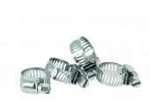 Lot de 4 Colliers de serrage en Inox Fixation Plate, Largeur 8 mm Ø de tuyau de 12 à 25 mm - Boutté