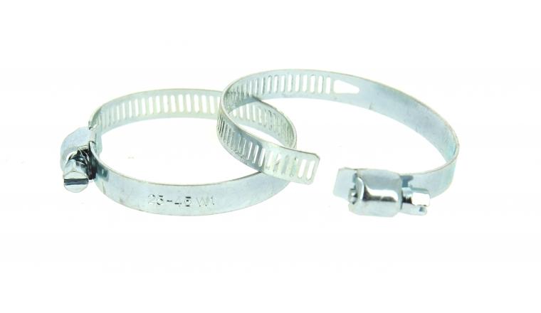 Lot de 2 Colliers de serrage en Acier Fixation Plate, Largeur 8 mm Ø du tuyau de 12 à 35 mm - Boutté