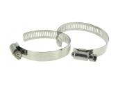 Lot de 2 Colliers de serrage en Inox Fixation Plate, Largeur 13 mm Ø du tuyau de 15 à 35 mm - Boutté