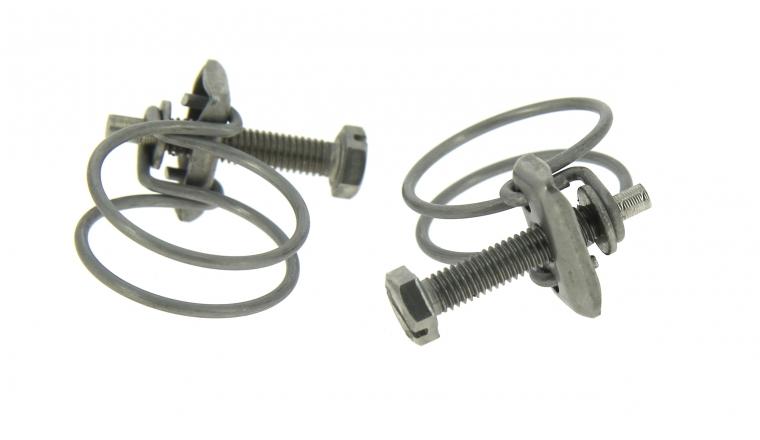 Lot de 2 Colliers de serrage 2 Fils en Inox, Fixation Plate Ø du tuyau de 24 à 40 mm - Boutté
