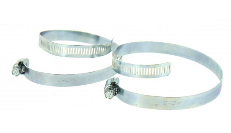 Lot de 2 Colliers de serrage en Acier Fixation Plate, Largeur 13 mm Ø du tuyau de 14 à 127 mm - Boutté