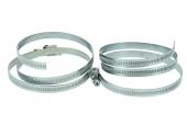 Lot de 2 Colliers de serrage en Inox Fixation Cruciforme, Largeur 8 mm Ø 60 à 215 mm Ref 079001 - Boutté
