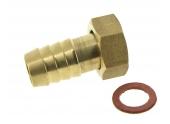 Nez de robinet droit à Embout Cannelé en Laiton Ø 15 mm Filetage 15x21 Ref 0102310 - Boutté