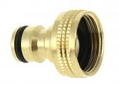 Nez de Robinet droit en Laiton pour Raccord Rapide Filetage 20x27 Ref 0102709 - Boutté