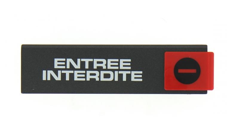 Plaque Autocollante Entrée Interdite 175 x 45 mm - Novap