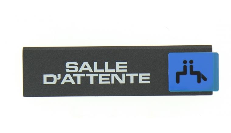 Plaque autocollante Salle d\'Attente 175 x 45 mm - Novap