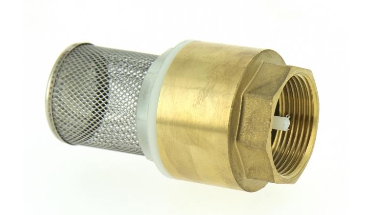 Clapet anti retour en laiton muni d 39 un filtre en inox boutt - Poser un clapet anti retour ...