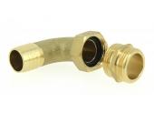 Embout Mâle Coudé 90° en Laiton Ø 25 mm pour Raccord de Pompe Filetage 26x34 Ref 0806119 - Boutté