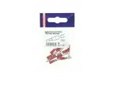 Lot de 10 Douilles à Sertir Mâle Pré-Isolées Rouge pour Fil de 0.5 à 1 mm² Ref 711080 - Debflex