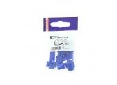 Lot de 5 Cosses Auto-Dénudantes Bleue pour Fil de 1.5 à 2.5 mm² Ref 711064 - Debflex