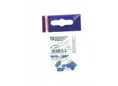 Lot de 10 Cosses à Sertir Fourche Ø 3 à 5 mm Pré-Isolées Bleue Pour Fil de 1.5 à 2.5 mm² - Debflex
